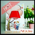 Creative DIY Gift - Page by Page Table Graffiti Lamp Calendar Light-E20804
