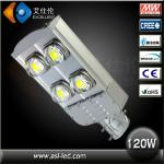 high quality 110lm/w 120w cob solar led street light with CE&Rohs-asl-xld01-led street lighting