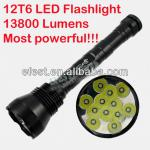 UltraFire 12T6 12xCree XM-L LED 12xT6 5-Model LED Flashlight with Extension Tube (2*26650 or 3*26650)-12T6