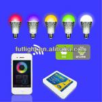 High power 9 W Smartphone multi color changing led light ,intelligent led light bulb ,Wifi led light bulb-Fut10B
