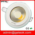 90mm cutout size dimmable led downlight,led square downlight,frosted glass led downlight-GT-COB-A5