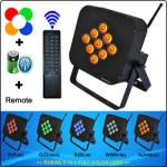 HOT SALES 9PCS 10W RGBWA 5in1 battery powered wireless dmx led light-DM-L9P10-IR