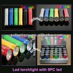 hot selling led torchlight,led torch with 9pc led,led torch,-SF-T016