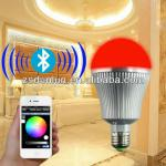 Color temperature and brightness adjustable wireless wifi bluetooth control LED bulb light Bulb-ZJ-C02
