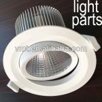 China supplier aluminum extruded led housing 20w cob LED downlight housing(housing fixture only, no led)-AL0881