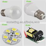 Hot sale plastic led bulbs india price 2013 zhongshan 3w led bulb light-G-QP45-3-001B