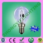 G45 220-240V 28W Globle halogen lamp E14-G45
