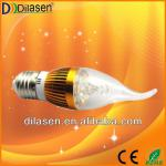 Energy saving top quality ce rohs led candle light e27 3watt-DC-E27G2