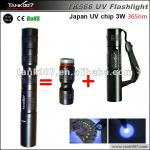 high power 3W 365nm UV aluminum flashlight 1*AAA battery TANK007 TK566-TK566 UV light