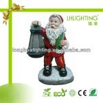 Father Christmas shape color changing solar garden light-LH-SY3265