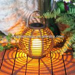OVERTURE new disign mood setting solar lantern with flame like led-JY0068