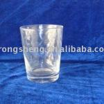 Etched Clear Glass Cup-