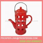 Ceramic Red Hanging Hurricane Lamp-PL-EY-1391A