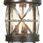 Outdoor pillar garden lighting with stainless steel cage main gate lights(DH-4263)-DH-4263