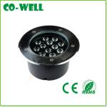 led underground lights 12*1W High Power Epistar/Bridgelux 45mil 100-110LM,2 Years Warranty,AC85-265V/DC12V/24V RGB/R/G/B/Y/W-WL-MDD-C12