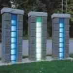 solar glass brick lamp-