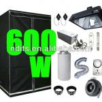 600w Magnetic Ballast, Grow Tent, Duct Fan Carton Filter Ducting Ventilation and OG Grow Bulbs for Hydroponic Grow Light set up-