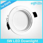 Best Price 10pcs/lot 5W led downlight, ceiling lamp, led light panel, AC85-265V+ Driver Free by FEDEC TNT-