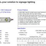led sign light fixtures for light box and channel letters-LL-F12T4815W2A