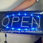 Led open sign advertising display-
