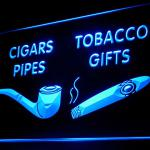 200056B Cigars Pipes Tobacco Gifts Shop Smoke Cigarette Lighter LED Light Sign-100001B