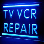140027B Tv Vcr Repair Television Interactive Affordable Reorder LED Light Sign-100001B