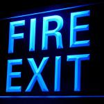 120072B Luminescent Safe Certified Fire Exit Emergency Exhibit LED Light Sign-100001B