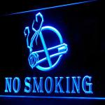 120016B No Smoking Area Cigarette Prohibition Illegal Ban Caution LED Light Sign-100001B