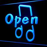 140021B Open Music Playing Intervention Verbal Equipment Bar Club LED Light Sign-100001B