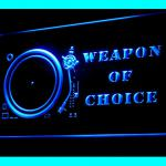 140073B Weapon Of Choice Rap Dj Mixer Rave Party Guitar Player LED Light Sign-100001B