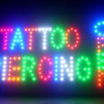 60057 Tattoo Piercing Nautical Creation Romantic Famous Tribal Wing LED Sign-60057