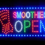 60065 Smoothies Open Healthy Fruit Organic Creamy Frozen Hot Summer LED Sign-60065