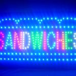 60067 Sandwiches Party Platters Cold Dishes Homemade Beef Salad Texture LED Sign-60067