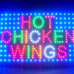 60062 Hot Chinken Wings Grill Juicy Spicy Sweet Buffalo Chicken Sauce LED Sign-60062