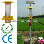 light + time + rain control 15W Lamp 40w Panel Solar Insect ultraviolet Killer Light with pole casting and steels-XT-201A/D