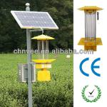 light + time + rain control 15W Solar Insect ultraviolet Killer Light with HDG pole iron casting and steels-XT-201A/D