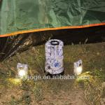 Chinese style super creative idea blue and white porcelain portable outdoor solar camping lantern-GM7010