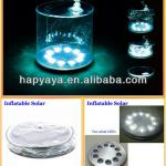 2013 New Factory Original Design Inflatable solar rechargeable led lantern-HSL