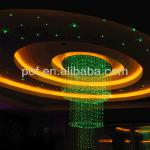 optic ceiling hanging decorations light, crystal fiber optic decoration-DS-1