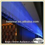 fibre optic sparkle curtain with 45W DMX RGB led light source for a doorway-waterfall fiber