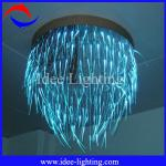 Colorful LED crystal fiber optic ceiling pendant lamp with remote control-CH-001