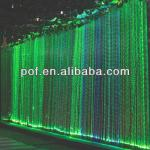Green Wall Drop Chandelier , PMMA optic fiber light , plastic chandelier crystals-DS392