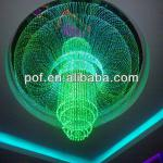 LED Light Plastic Multicolored fiber optic light , beautiful ceiling decoration-DS615