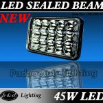 Top! 45w high bright automotive square LED driving light-PD 5SL