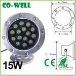 led round underwater light stainless steel ip68 15W 180*H210mm,Stainless steel-WL-SDD-C15