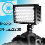CN-Lux2200 Bi-color LED light LED on camera light video light for Canon 5D 7D 600D 550D-CN-Lux2200
