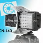 CN-140 LED On camera light video light with barndoors light for DV camcorder camera dslr-CN-140
