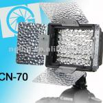 NanGuang CN-70 On camera LED video light with barndoors for photo and video-CN-70