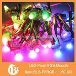 50Pcs DC5V F8 WS2811 IC Full Color RGB Pixel String LED Module IP68 Waterproof