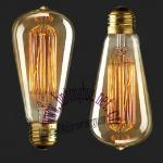 Antique Vintage light bulb ST64 40W